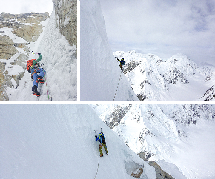 Mont Huntington - Polar Chrom route